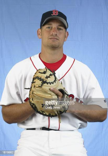 Jeff Smith of the Boston Red Sox poses for a portrait during the Red Sox spring training Media Day on February 23 2003 at Ed Smith Stadium in...