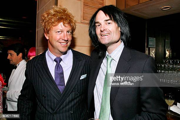 Jeff Sohm and Patrick Moynihan attend WOODY JOHNSON's 'Wig Out' 60th Birthday Party at Doubles on April 12 2007 in New York City