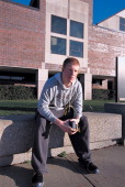 Jeff Sorensen vice president of the student council sits in front of Penn High School in Mishawaka Indiana March 2001 Students at the school...