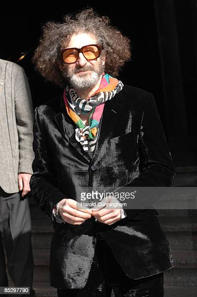 Jeff Stewart attends the unveiling of the blue plaque commemorating the late Keith Moon drummer of The Who at 90 Wardour Street on March 8 2009 in...