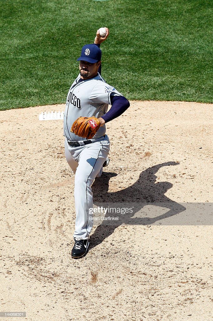<a gi-track='captionPersonalityLinkClicked' href=/galleries/search?phrase=Jeff+Suppan&family=editorial&specificpeople=171494 ng-click='$event.stopPropagation()'>Jeff Suppan</a> #38 of the San Diego Padres throws a pitch during the game against the Philadelphia Phillies at Citizens Bank Park on May 13, 2012 in Philadelphia, Pennsylvania. The Phillies won 3-2.