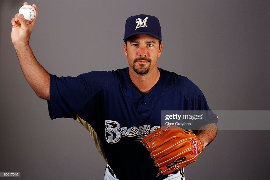 Jeff Suppan poses for a photo during the Milwaukee Brewers Spring Training Photo Day at Maryvale Baseball Park on February 26 2008 in Maryvale Arizona