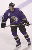 Jeff Tambellini of the Manchester Monarchs skates against the Bridgeport Sound Tigers at the Arena at Harbor Yard on November 4 2005 in Bridgeport...