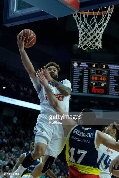 Jeff Taylor of Real Madrid during the Liga Endesa Play off game between Real Madrid and Andorra at Barclaycard Center on May 24 2017 in Madrid Spain