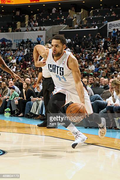 Jeff Taylor of the Charlotte Bobcats drives to the basket against the Miami Heat during the game at the Time Warner Cable Arena on November 16 2013...
