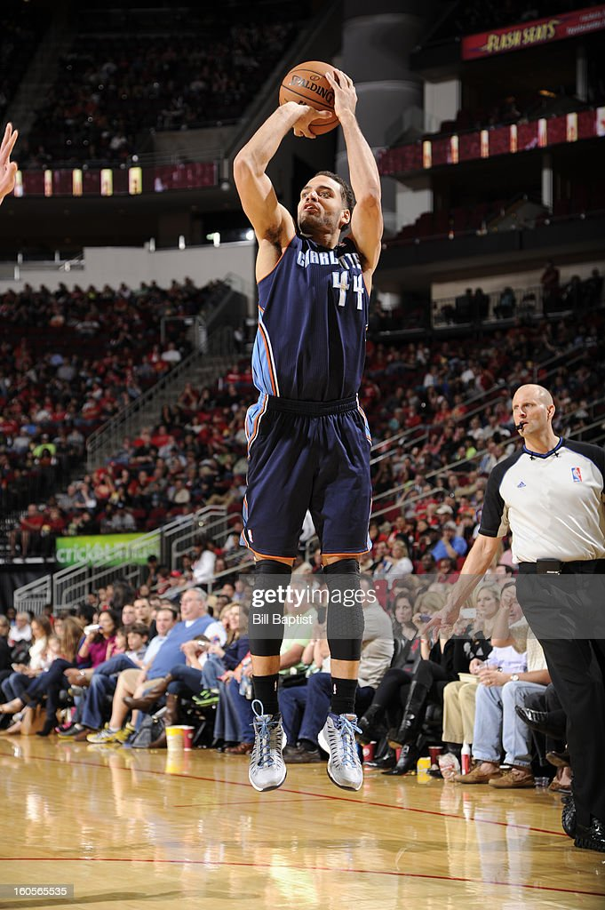Jeff Taylor #44 of the Charlotte Bobcats shoots against the Houston Rockets on February 2, 2013 at the Toyota Center in Houston, Texas.