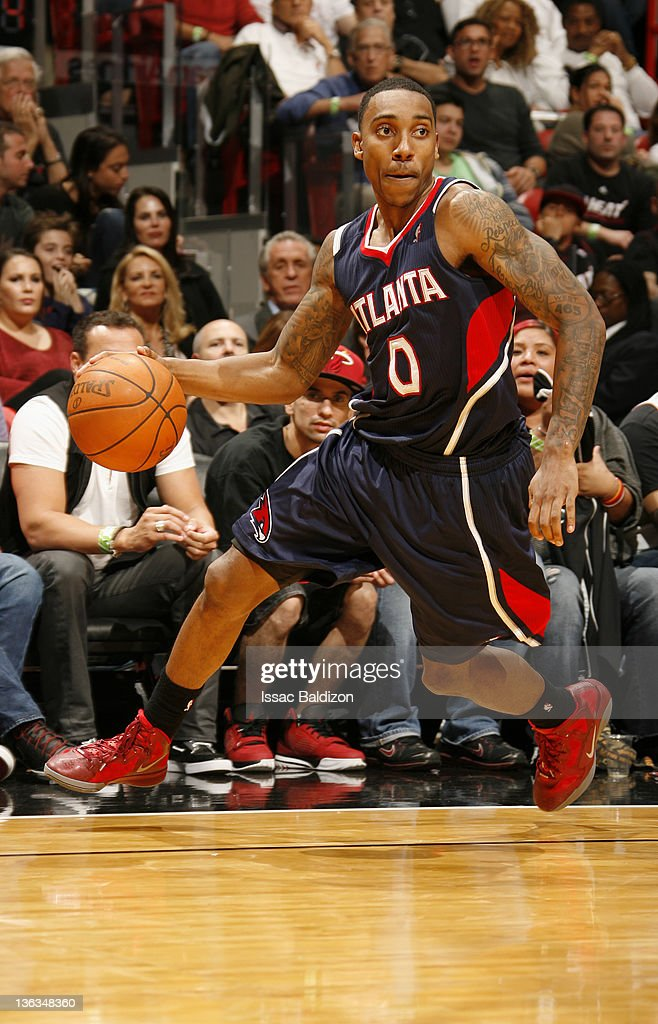 <a gi-track='captionPersonalityLinkClicked' href=/galleries/search?phrase=Jeff+Teague&family=editorial&specificpeople=4680498 ng-click='$event.stopPropagation()'>Jeff Teague</a> #0 of the Atlanta Hawks controls the ball during the fourth quarter against the Miami Heat on January 2, 2012 at American Airlines Arena in Miami, Florida.