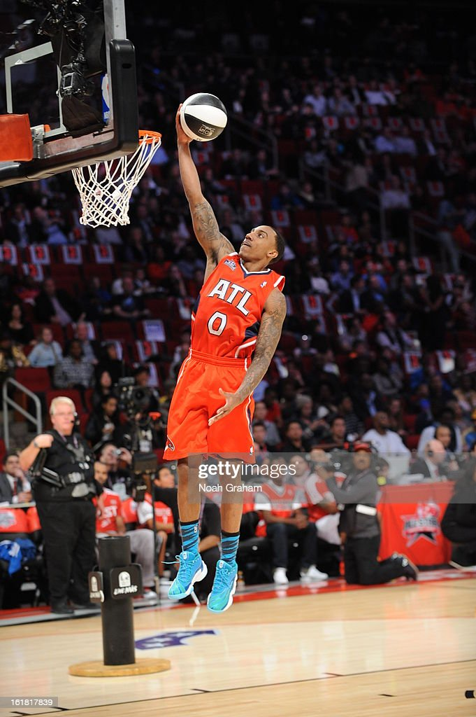 Jeff Teague #0 of the Atlanta Hawks participates during 2013 Taco Bell Skills Challenge on State Farm All-Star Saturday Night as part of 2013 NBA All-Star Weekend on February 16, 2013 at Toyota Center in Houston, Texas.