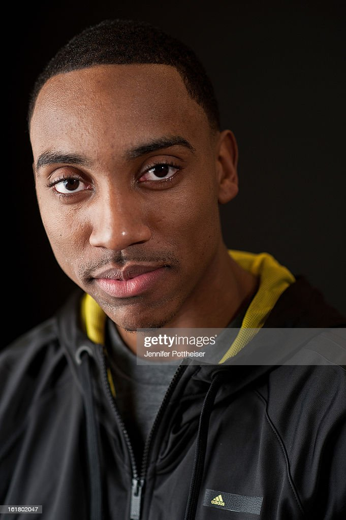 Jeff Teague #0 of the Atlanta Hawks poses for portraits during the NBAE Circuit as part of 2013 All-Star Weekend at the Hilton Americas Hotel on February 16, 2013 in Houston, Texas.