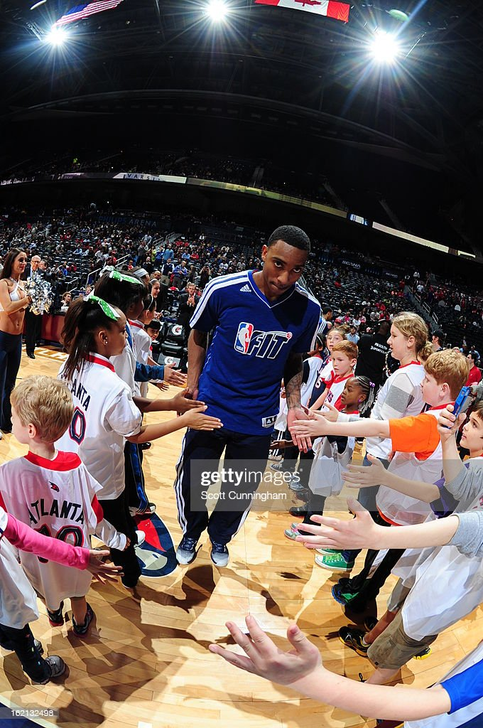 <a gi-track='captionPersonalityLinkClicked' href=/galleries/search?phrase=Jeff+Teague&family=editorial&specificpeople=4680498 ng-click='$event.stopPropagation()'>Jeff Teague</a> #0 of the Atlanta Hawks runs out before the game against the Toronto Raptors on January 30, 2013 at Philips Arena in Atlanta, Georgia.