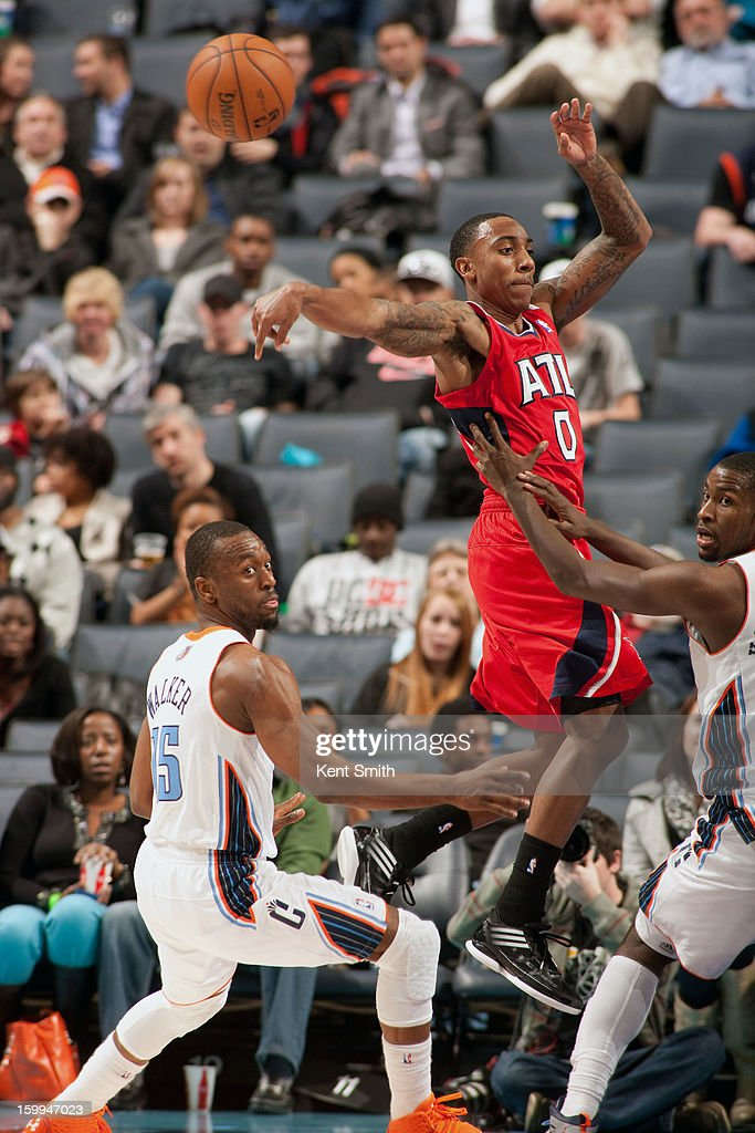 Jeff Teague #0 of the Atlanta Hawks shoots against the Charlotte Bobcats at the Time Warner Cable Arena on January 23, 2013 in Charlotte, North Carolina.