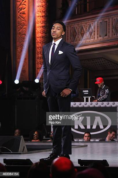 Jeff Teague walks the runway during the NBA AllStar AllStyle presented by Samsung Galaxy the firstever NBA fashion show executive produced by LeBron...