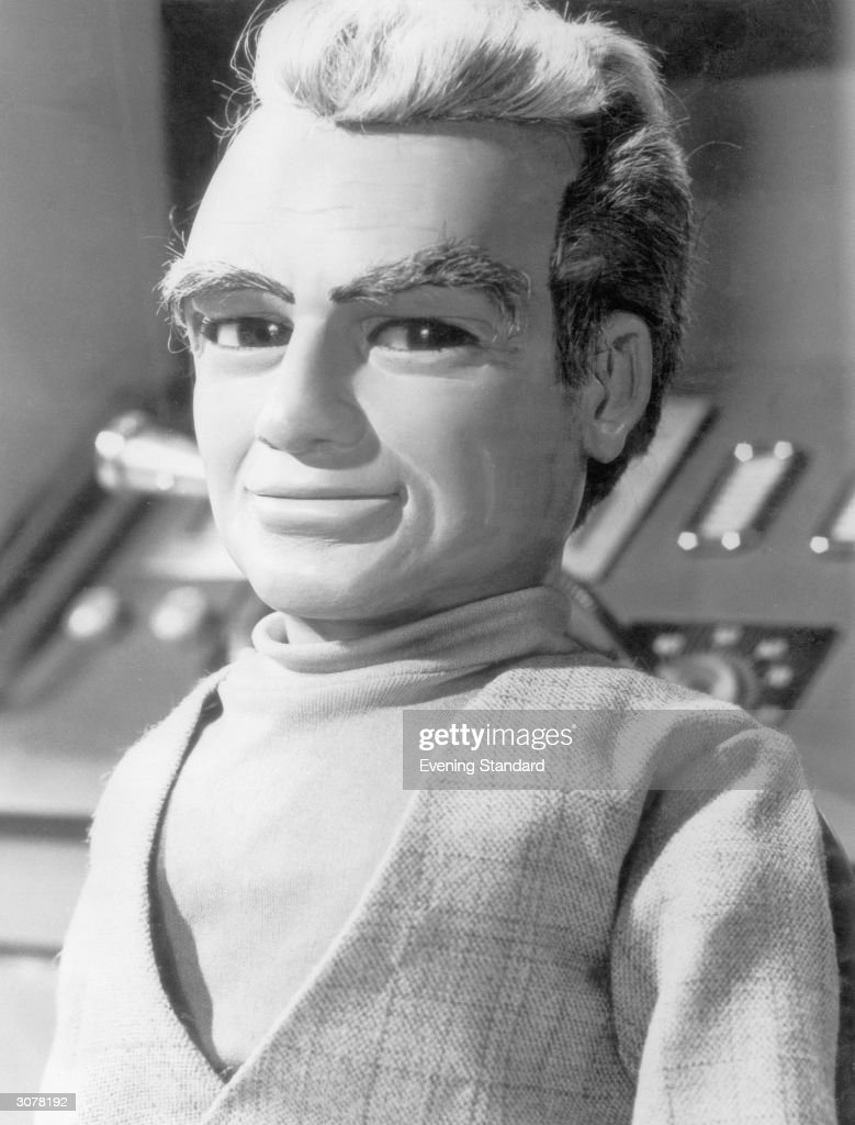 Jeff Tracy, head of International Rescue and a member of the puppet cast of the British children's television programme 'Thunderbirds', October 1965.