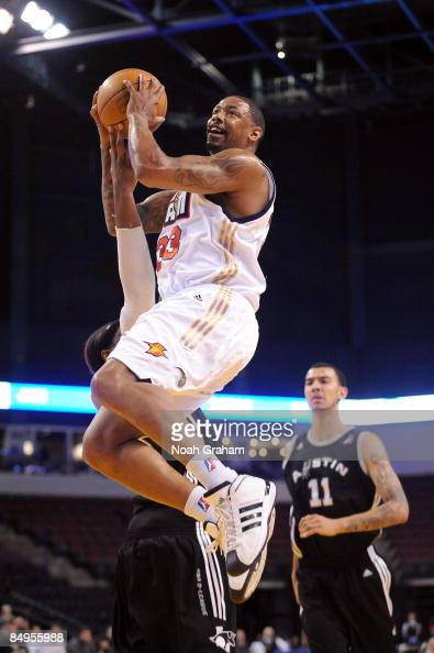 Jeff Trepagnier of the Bakersfield Jam goes hard to the hoop against the Austin Toros in a NBAD League Game at the Rabobank Arena on February 19 2009...