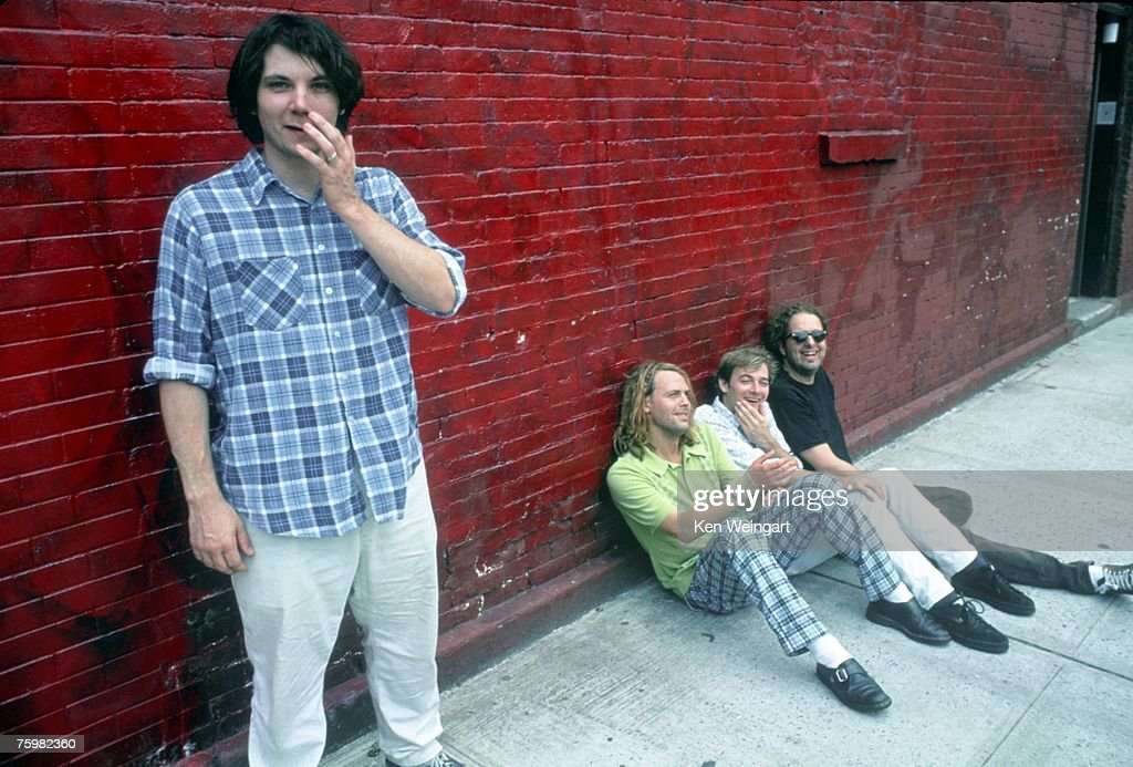 Jeff Tweedy, Jay Bennett, John Stirratt and Ken Coomer of the alt country band 'Wilco' pose for a portrait in 1996 in New York City, New York.