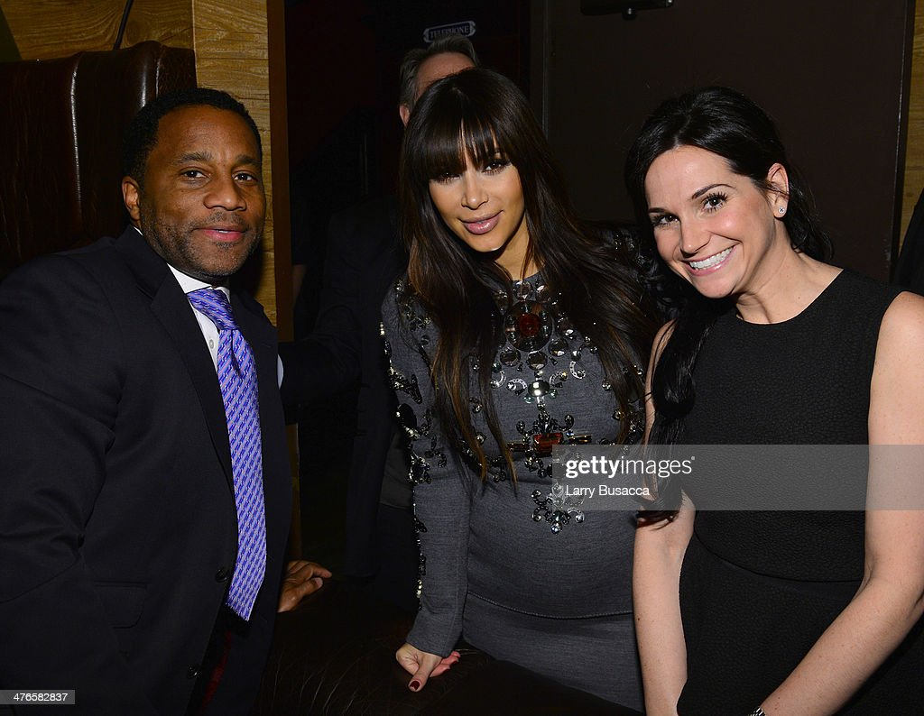Jeff Tweedy, Kim Kardashian, and Jackie Quinn attend the DuJour Magazine Spring 2013 Issue Celebration at The Darby on March 27, 2013 in New York City.