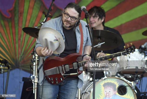 Jeff Tweedy of Wilco performs during the 2017 New Orleans Jazz Heritage Festival at Fair Grounds Race Course on May 5 2017 in New Orleans Louisiana