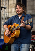 Jeff Tweedy performs during the 2014 Newport Folk Festival at Fort Adams State Park on July 27 2014 in Newport Rhode Island