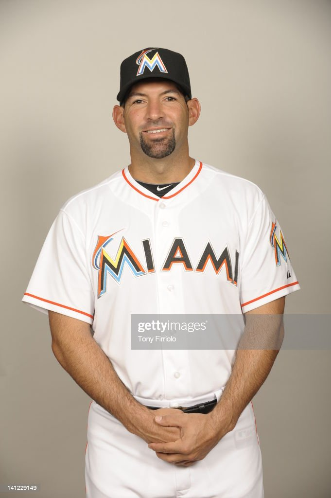 Jeff Urgelles (75) of the Miami Marlins poses during Photo Day on Monday, February 27, 2012 at Roger Dean Stadium in Jupiter, Florida.