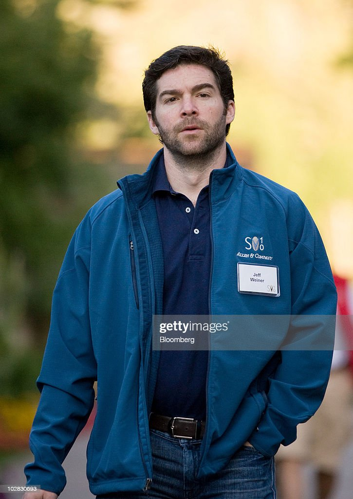 Jeff Weiner, chief executive officer of LinkedIn Corp., arrives for morning sessions at the 28th annual Allen & Co. Media and Technology Conference in Sun Valley, Idaho, U.S., on Saturday, July 10, 2010. Allen & Co., the boutique New York investment bank, invites executives from start-ups in media and technology to mingle with bankers and moguls at the event. The mixture, along with presentations trumpeting new business models, has led to acquisitions and investments in the past. Photographer: Matthew Staver/Bloomberg via Getty Images