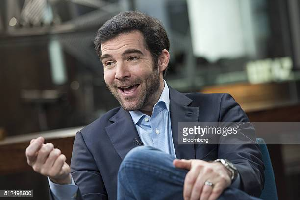 Jeff Weiner chief executive officer of LinkedIn Corp speaks during a Studio 10 interview in San Francisco California US on Thursday Feb 25 2016...