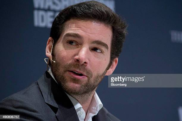 Jeff Weiner chief executive officer of LinkedIn Corp speaks during an interview at the Washington Ideas Forum in Washington DC US on Thursday Oct 1...