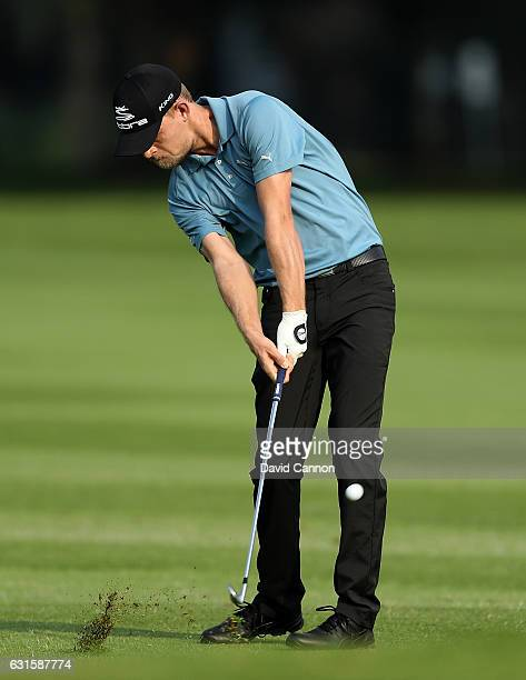 Jeff Winther of Denmark hits his second shot on the 1st hole during day two of The BMW South African Open Championship at Glendower Golf Club on...