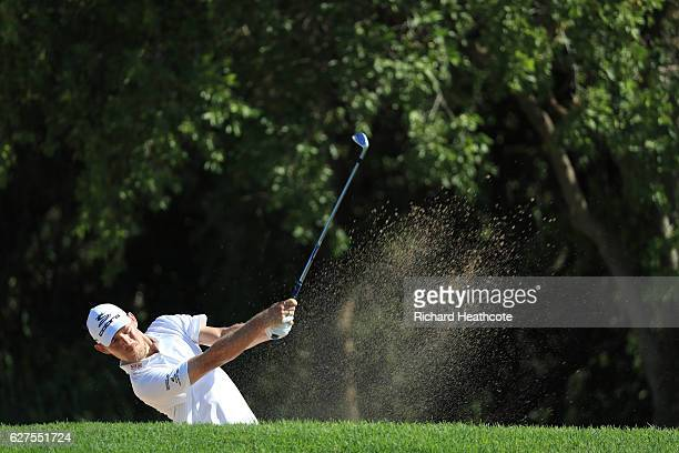 Jeff Winther of Denmark plays a bunker shot on the 4th during the final round of The Alfred Dunhill Championship at Leopard Creek Country Golf Club...