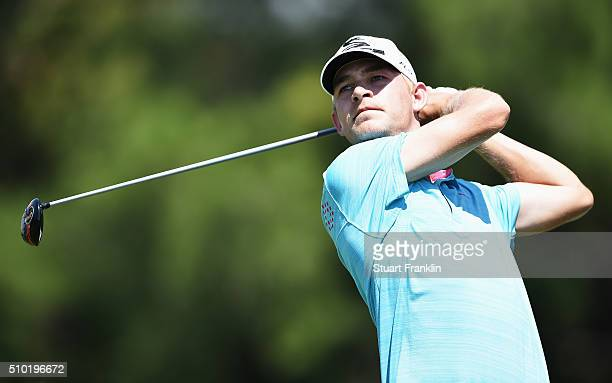 Jeff Winther of Denmark plays a shot during the final round of the Tshwane Open at Pretoria Country Club on February 14 2016 in Pretoria South Africa