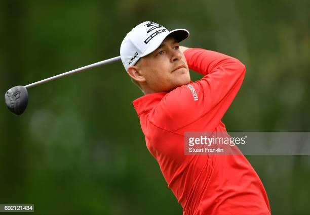 Jeff Winther of Denmark plays a shot during the final round of The Nordea Masters at Barseback Golf Country Club on June 4 2017 in Barsebackshamn...