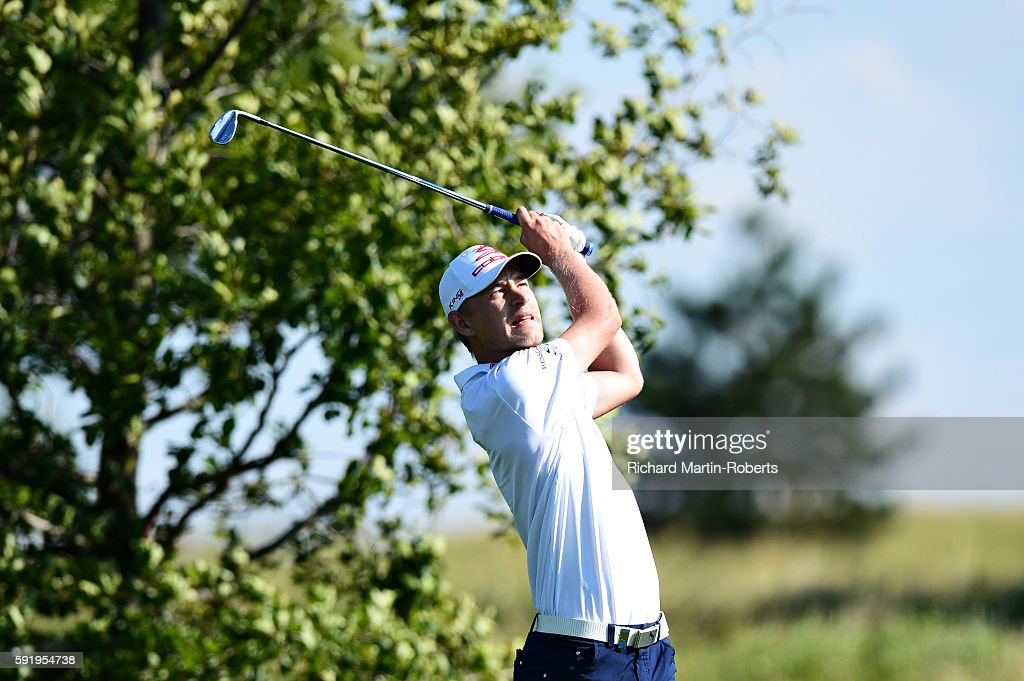Jeff Winther of Denmark takes his second shot on the 2nd hole during day two of the DD REAL Czech Masters at Albatross Golf Resort on August 19 2016...