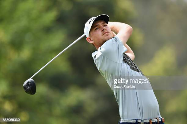 Jeff Winther of Denmark tees off during the first round on day one of the Trophee Hassan II at Royal Golf Dar Es Salam on April 13 2017 in Rabat...
