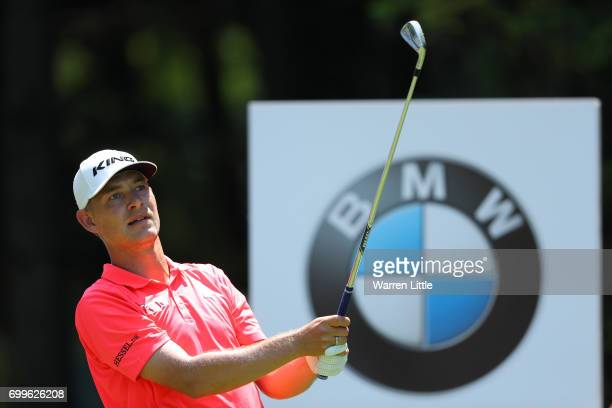 Jeff Winther of Denmark tees off on the 7th holeduring day one of the BMW International Open at Golfclub Munchen Eichenried on June 22 2017 in Munich...