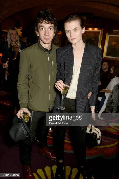 Jeff Wootton and Lara Mullen at the LOVE and Burberry London Fashion Week Party at Annabel's celebrating Katie Grand and Kendall Jenner's #LOVEME17...