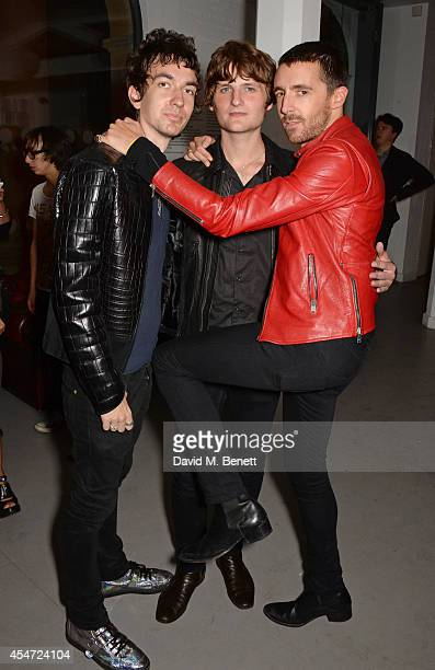 Jeff Wootton Jay Sharrock and Miles Kane attend the Soho House event to celebrate Kasabian's performance at the iTunes Festival London on September 5...