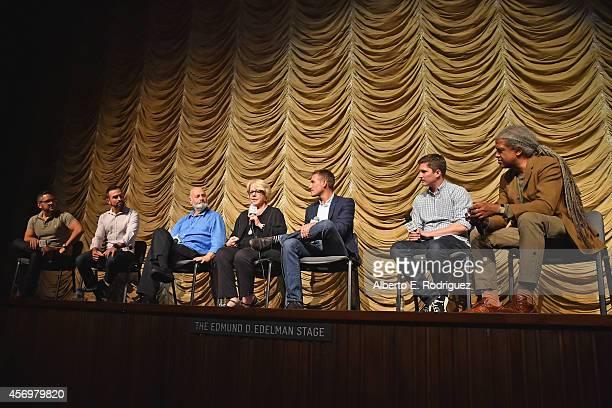 Jeff Zarillo Paul Katami director Rob Reiner editor Kate Amend director/writers Ryan White Ben Cotner and moderator Elvis Mitchell attend Film...