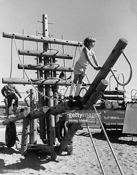 OCT 27 1976 NOV 3 1976 Jeffco Concept 6 Has These Stott Elementary Pupils On Vacation The new playground equipment at Stott Park near Stott...