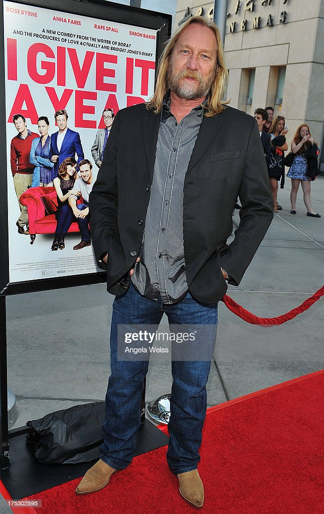 Jefferey Petterson arrives at the Screening of Magnolia Pictures' 'I Give It A Year' at ArcLight Hollywood on August 1, 2013 in Hollywood, California.