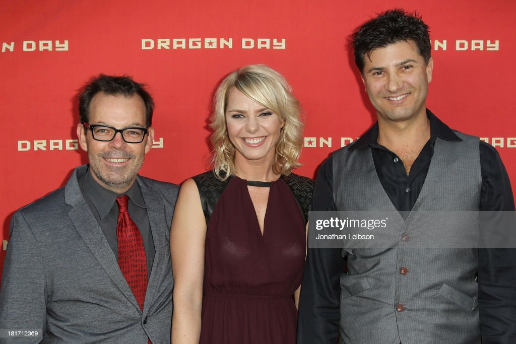 Jefferey Travis, Osa Wallander and Ethan Flower attend the 'Dragon Day' Red Carpet at Downtown Independent Theatre on September 23, 2013 in Los Angeles, California.