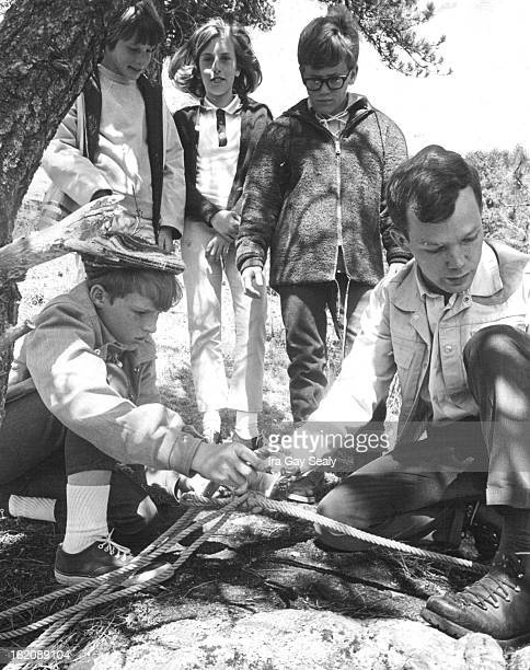 APR 9 1966 APR 22 1967 APR 26 1967 Jefferson County Outdoor Education Laboratory Learning the proper technique of tying a double bowline are from...