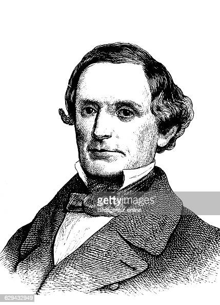 Jefferson davis 1808 1889 president of the confederate states of america and leader of the south in the civil war historic woodcut circa 1880