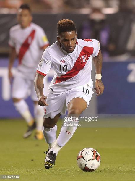Jefferson Farfan of Peru controls the ball during a match between Peru and Bolivia as part of FIFA 2018 World Cup Qualifiers at Monumental Stadium on...
