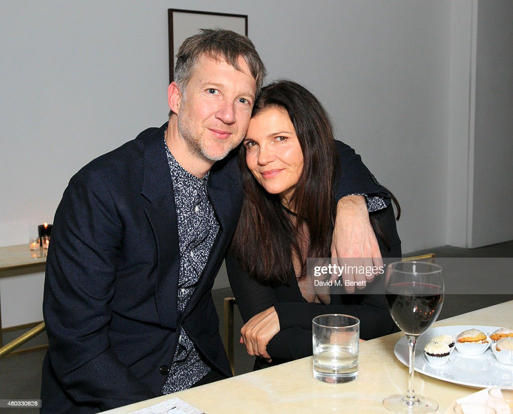 Jefferson Hack and Ali Hewson attend the Edun Pre Fall Dinner at Alison Jacques Gallery on December 11, 2014 in London, England.