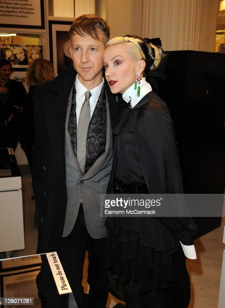 Jefferson Hack and Daphne Guinness attend AnOther Magazine's 10th birthday party at Selfridges on February 17 2011 in London England