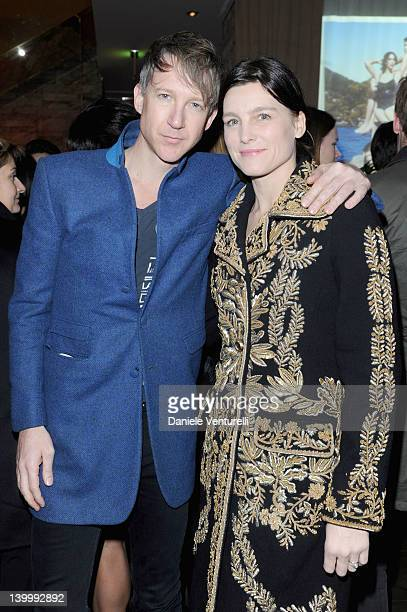 Jefferson Hack and guest attend Dolce Gabbana Cocktail Party at the Gold Restaurant as part of Milan Womenswear Fashion Week on February 26 2012 in...