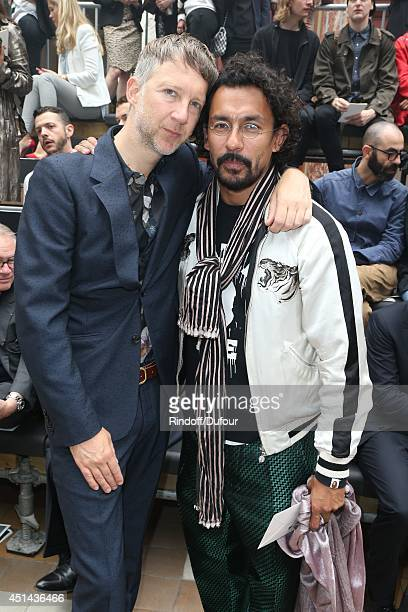 Jefferson Hack and Haider Ackermann attend the Lanvin show as part of the Paris Fashion Week Menswear Spring/Summer 2015 on June 29 2014 in Paris...