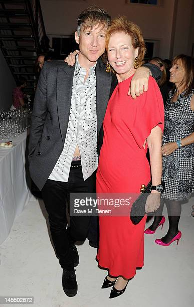 Jefferson Hack and Julia PeytonJones attend a private viewing of the 2012 Serpentine Gallery Pavilion designed by Herzog de Meuron and Ai Weiwei at...
