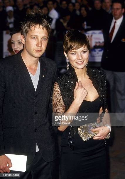 Jefferson Hack and Kate Moss at 'One Night At McCool's' London Premiere April 2001
