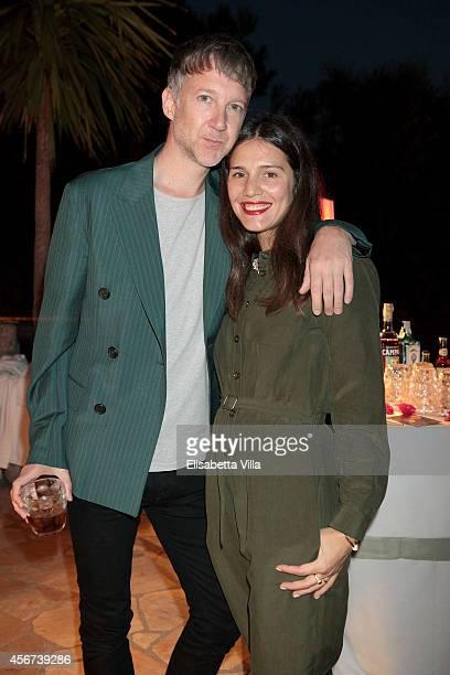 Jefferson Hack and Margherita Missoni attend the 'Il Pellicano Travel Guide' cocktail launch at the Hotel Il Pellicano on October 4 2014 in Porto...