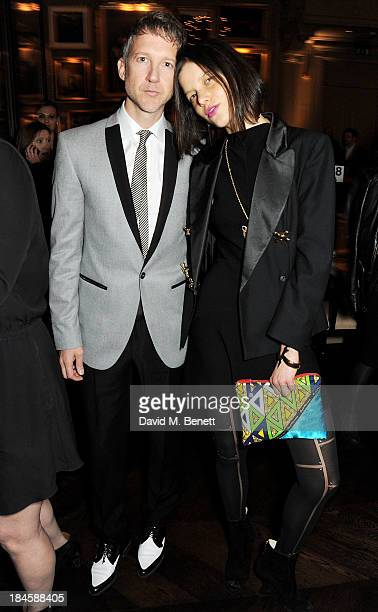 Jefferson Hack and Tati Cotliar arrive at the London EDITION and NOWNESS dinner to celebrate ON COLLABORATION on October 14 2013 in London England